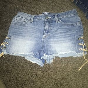 A.n.a jean shorts lace up sides biker beach size 4
